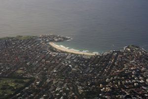 A view of Bondi Beach from above