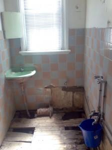 bathroom leak rotted floor